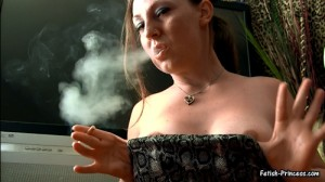 Sunny Titty Smoking! – Cigarette Smoking