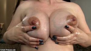 Cum for My Huge Swollen Veiny Oily Tits